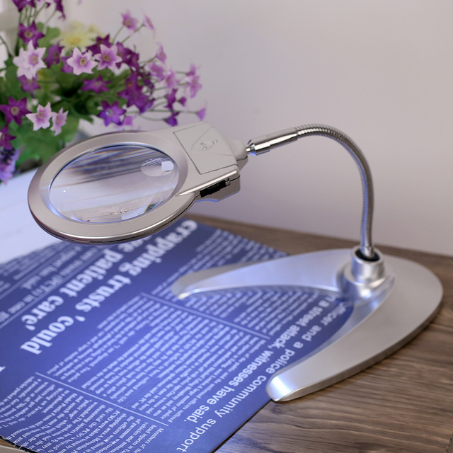6x loupe multi fonctionnelle bureau loupe lampe flexible loupe microscope avec la lumi re loupe outil jpg 640x640