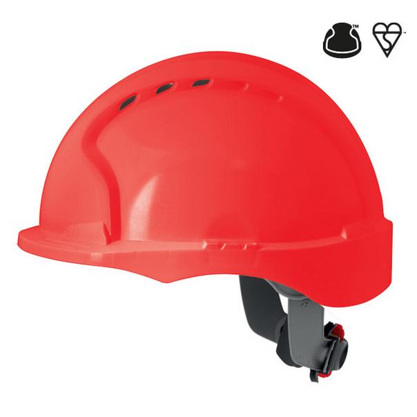 Casque evo3 visiere courte cremaillere rouge ventile