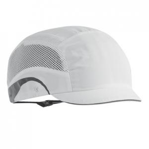 Casquette de securite hardcap aerolite micro visiere 2 5cm blanche