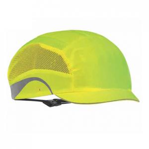 Casquette de securite hardcap aerolite micro visiere 2 5cm jaune fluo