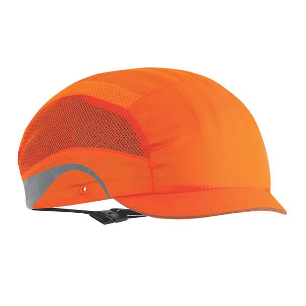 Casquette de securite hardcap aerolite micro visiere 2 5cm orange fluo