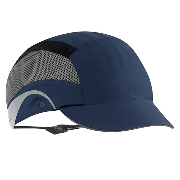 Casquette de securite hardcap aerolite visiere courte 5cm bleue