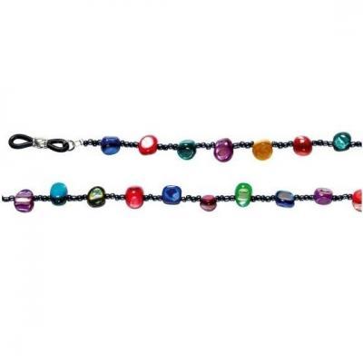 Chaînette pierre multicolore