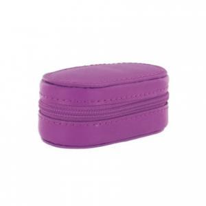 Etuis lentilles cuir violet