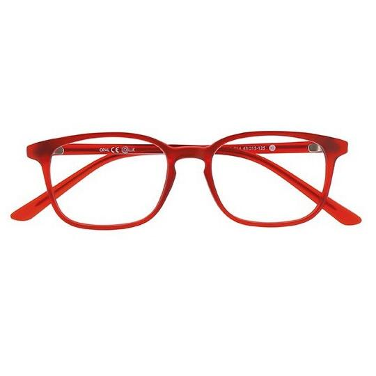 Lunette lumiere bleu oblue carre xs rouge