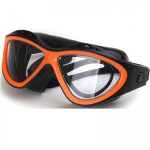 Lunettes de natation a la vue orange avec un kit