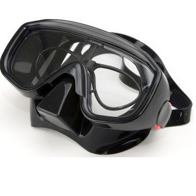 Masque de plongée Aquavisio Pro Noir grand volume