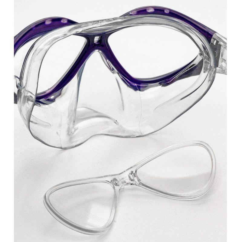 Masque de plongee avec verres correcteurs