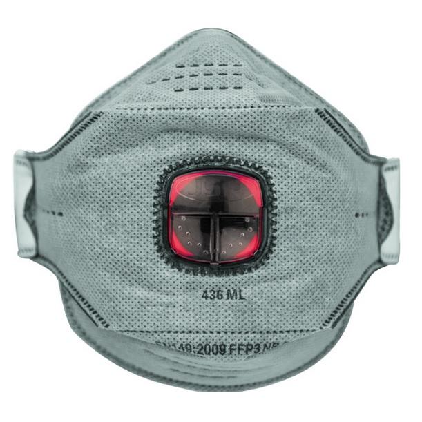 Masque respiratoire jetable valve springfit ffp3 anti odeur