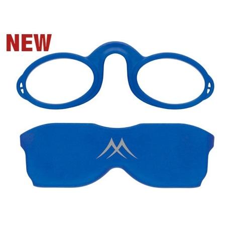 Pince nez lunettes bleu
